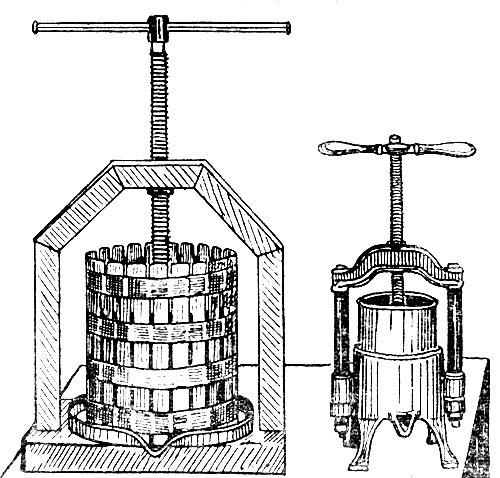 Пресс для отжима винограда чертеж